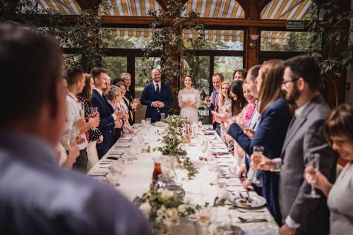 toast za pare młodą, wesele w bursztynowym pałacu w strzekęcinie