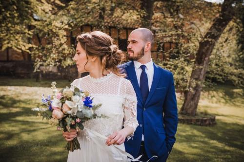 portret pary młodej, wesele w bursztynowym pałacu w strzekęcinie