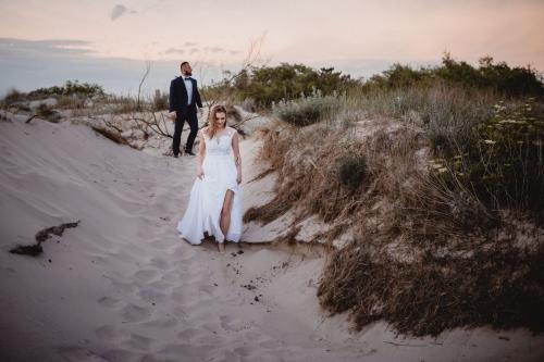 ślub nad morzem, fotograf koszalin mielno, rompska fotografia