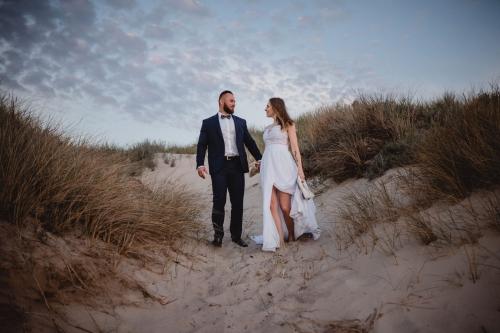 ślub nad morzem, fotograf koszalin mielno rompska fotografia
