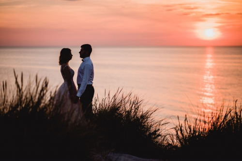 sesja ślubna nad morzem fotograf mielno