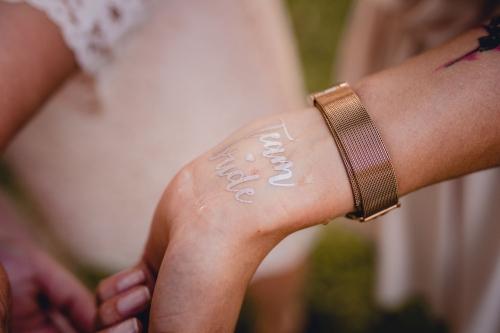 tatuaże na wieczór panieński, team bride