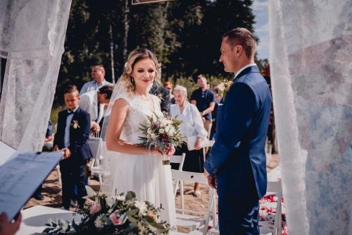 Rustykalny ślub cywilny w plenerze- Ranczo Panderossa