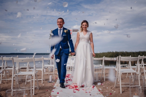 Rustykalny ślub cywilny w plenerze- Ranczo Panderossa fotograf koszalin szcvzecinek rompska barbara